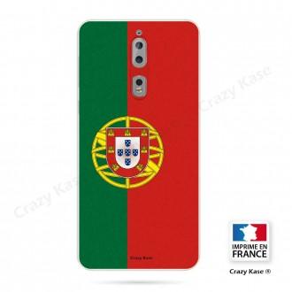 Coque Nokia 8 souple motif Drapeau Portugais - Crazy Kase