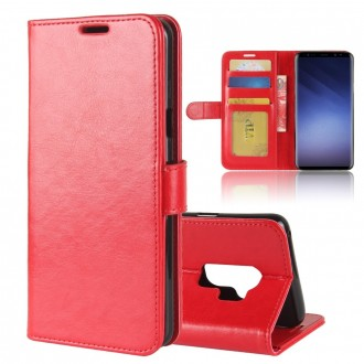 Etui Galaxy S9+ Portefeuille Rouge - Crazy Kase
