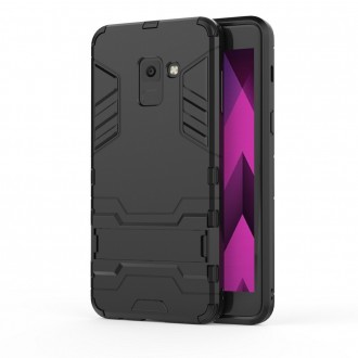 Coque Galaxy A8 (2018) Bi-matière Noire - Crazy Kase