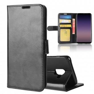 Etui Galaxy A8 (2018) Portefeuille Noir - Crazy Kase