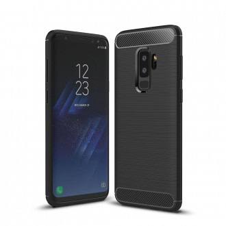 Coque Galaxy S9+ noir effet carbone - Crazy Kase