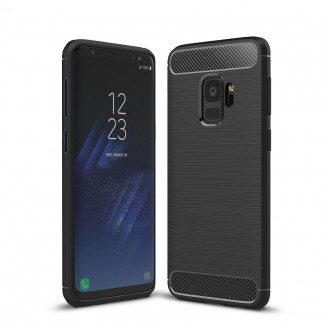 Coque Galaxy S9 noir effet carbone - Crazy Kase