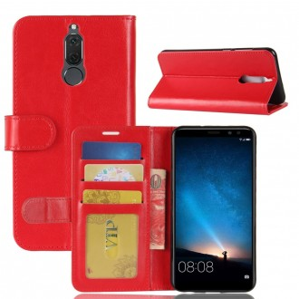 Etui Huawei Mate 10 Lite Portefeuille Rouge - Crazy Kase
