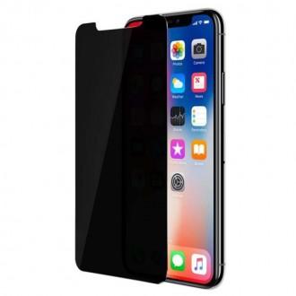Film iPhone X protection écran verre trempé teinté Anti-espion - Muvit