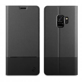 Etui Galaxy S9 Folio Stand Noir - Muvit