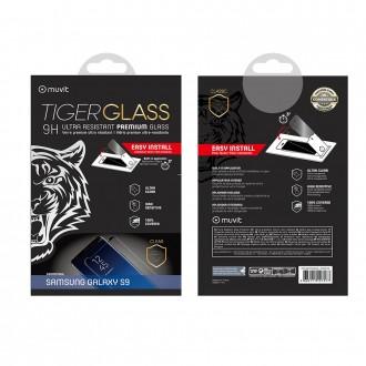 Film Galaxy S9 protection écran verre trempé incurvé avec applicateur - Muvit