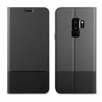 Etui Galaxy S9+ Folio Stand Noir - Muvit