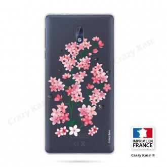 Coque Nokia 3 souple motif Fleurs de Sakura - Crazy Kase