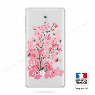 Coque Nokia 3 souple motif Fleurs de Cerisier - Crazy Kase