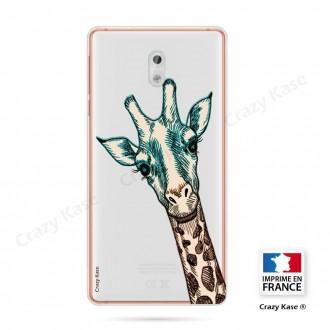 Coque Nokia 3 souple motif Tête de Girafe - Crazy Kase