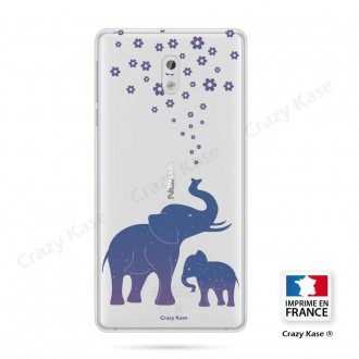 Coque Nokia 3 souple motif Eléphant Bleu - Crazy Kase