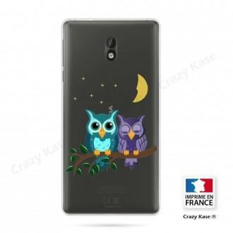 Coque Nokia 3 souple motif chouettes au clair de lune - Crazy Kase
