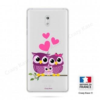 Coque Nokia 3 souple motif Famille Chouette - Crazy Kase