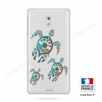 Coque Nokia 3 souple motif Famille Tortue - Crazy Kase