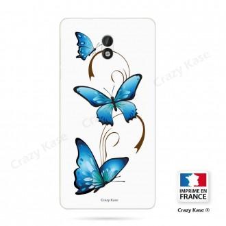 Coque Nokia 3 souple motif Papillon et Arabesque sur fond blanc - Crazy Kase
