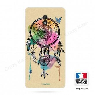 Coque Nokia 3 souple motif Attrape rêve et papillon - Crazy Kase