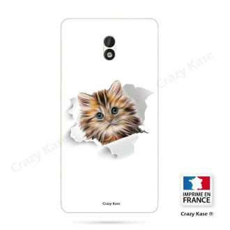 Coque Nokia 3 souple motif Chat trop mignon - Crazy Kase