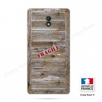 Coque Nokia 3 souple effet Caisse en bois - Crazy Kase
