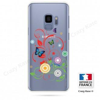 Coque Galaxy S9 souple motif Papillons et Cercles - Crazy Kase