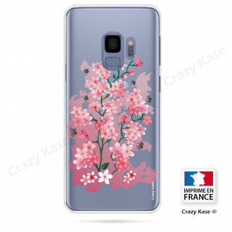 Coque Galaxy S9 souple motif Fleurs de Cerisier - Crazy Kase