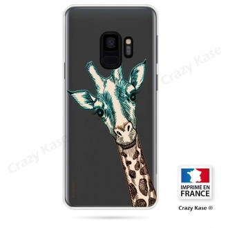 Coque Galaxy S9 souple motif Tête de Girafe - Crazy Kase