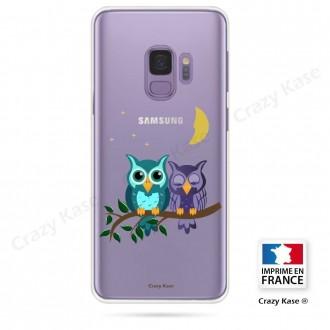 Coque Galaxy S9 souple motif chouettes au clair de lune - Crazy Kase