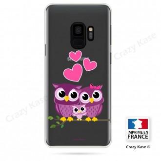 Coque Galaxy S9 souple motif Famille Chouette - Crazy Kase
