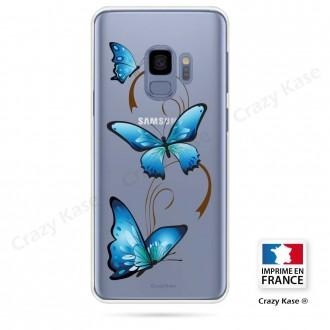 Coque Galaxy S9 souple motif Papillon sur Arabesque - Crazy Kase