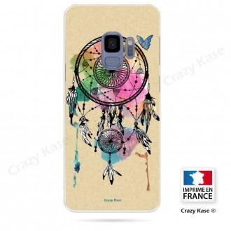 Coque Galaxy S9 souple motif Attrape rêve et papillon - Crazy Kase