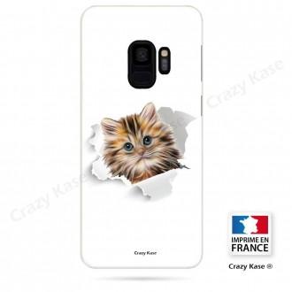 Coque Galaxy S9 souple motif Chat trop mignon - Crazy Kase