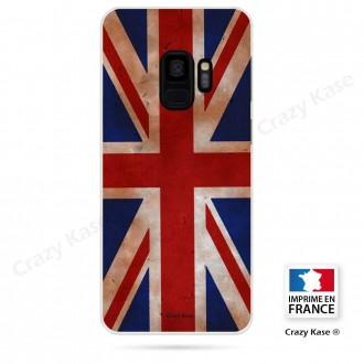 Coque Galaxy S9 souple motif Drapeau UK vintage - Crazy Kase