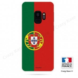 Coque Galaxy S9 souple motif Drapeau Portugais - Crazy Kase