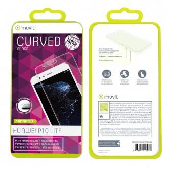 Film Huawei P10 Lite protection écran verre trempé incurvé - Muvit