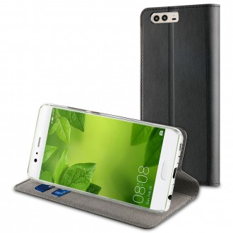 Etui Huawei P10 Plus Porte cartes Noir - Muvit