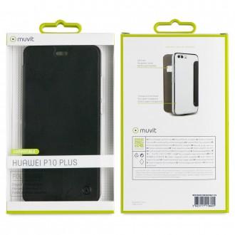 Etui Huawei P10 Plus Folio Noir - Muvit