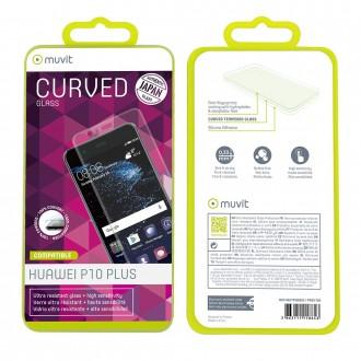 Film Huawei P10 Plus protection écran verre trempé incurvé - Muvit