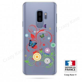 Coque Galaxy S9+ souple motif Papillons et Cercles - Crazy Kase