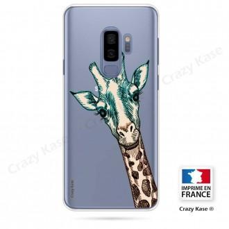 Coque Galaxy S9+ souple motif Tête de Girafe - Crazy Kase
