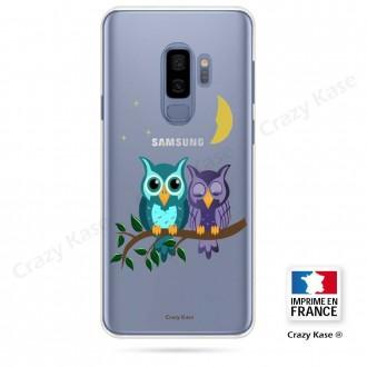 Coque Galaxy S9+ souple motif chouettes au clair de lune - Crazy Kase