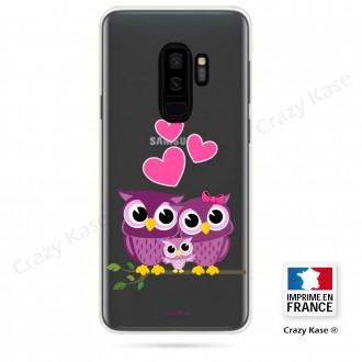 Coque Galaxy S9+ souple motif Famille Chouette - Crazy Kase