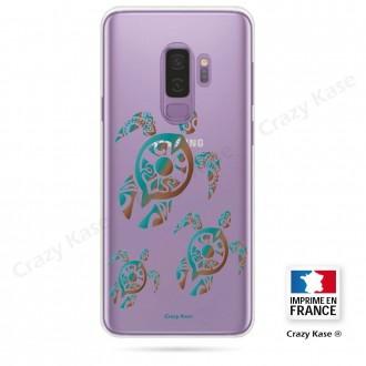 Coque Galaxy S9+ souple motif Famille Tortue - Crazy Kase