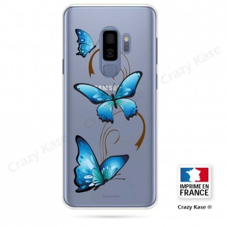 Coque Galaxy S9+ souple motif Papillon sur Arabesque - Crazy Kase