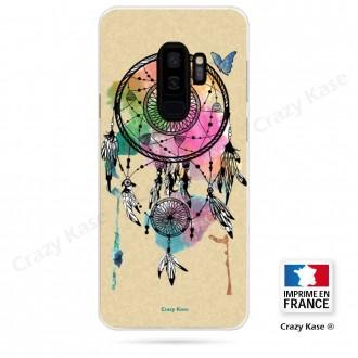 Coque Galaxy S9+ souple motif Attrape rêve et papillon - Crazy Kase