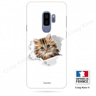 Coque Galaxy S9+ souple motif Chat trop mignon - Crazy Kase