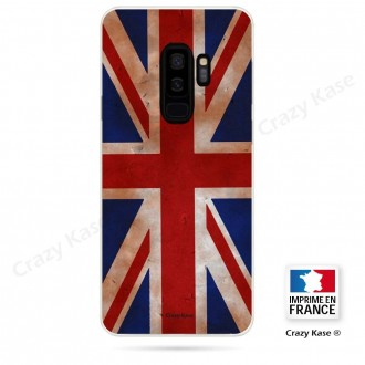 Coque Galaxy S9+ souple motif Drapeau UK vintage - Crazy Kase