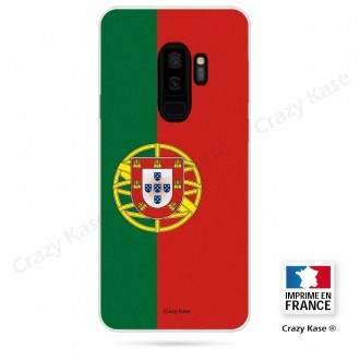 Coque Galaxy S9+ souple motif Drapeau Portugais - Crazy Kase