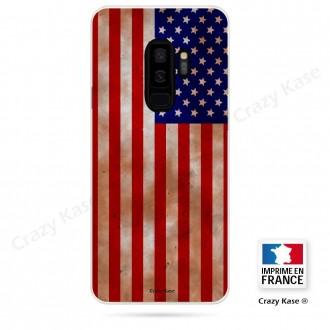 Coque Galaxy S9+ souple motif Drapeau Américain - Crazy Kase