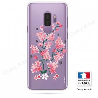 Coque Galaxy S9+ souple motif Fleurs de Sakura - Crazy Kase