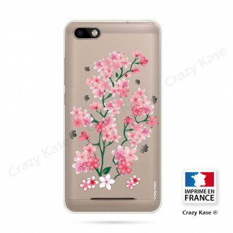 Coque Wiko Lenny 3 souple motif Fleurs de Sakura - Crazy Kase