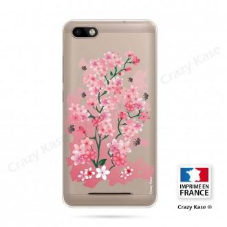 Coque Wiko Lenny 3 souple motif Fleurs de Cerisier - Crazy Kase